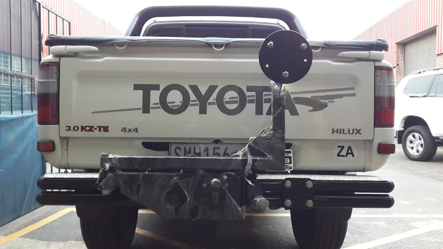 Dual Spare Wheel Carrier Jerry Can Tow Bar Swing Arm Tauro
