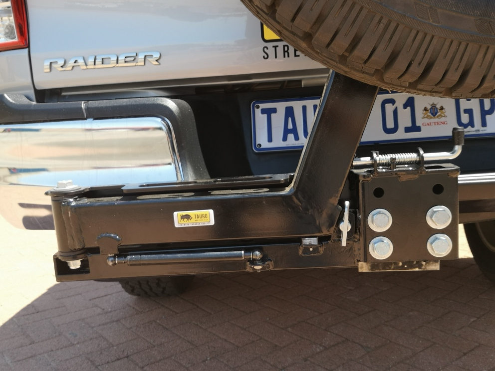 Dual Spare Wheel Carrier  Jerry Can Tow Bar Swing Arm